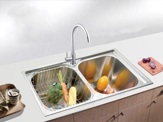 Chậu 2 ngăn là sản phẩm đáng được sử dụng trong nhà bếp.