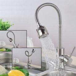 Vòi lạnh GL-505 với thiết kế lò xo dễ dàng đưa nước đến nhiều vị trí