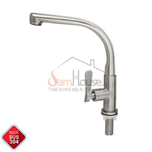 Vòi rửa chén lạnh GL-507 inox cao cấp 304